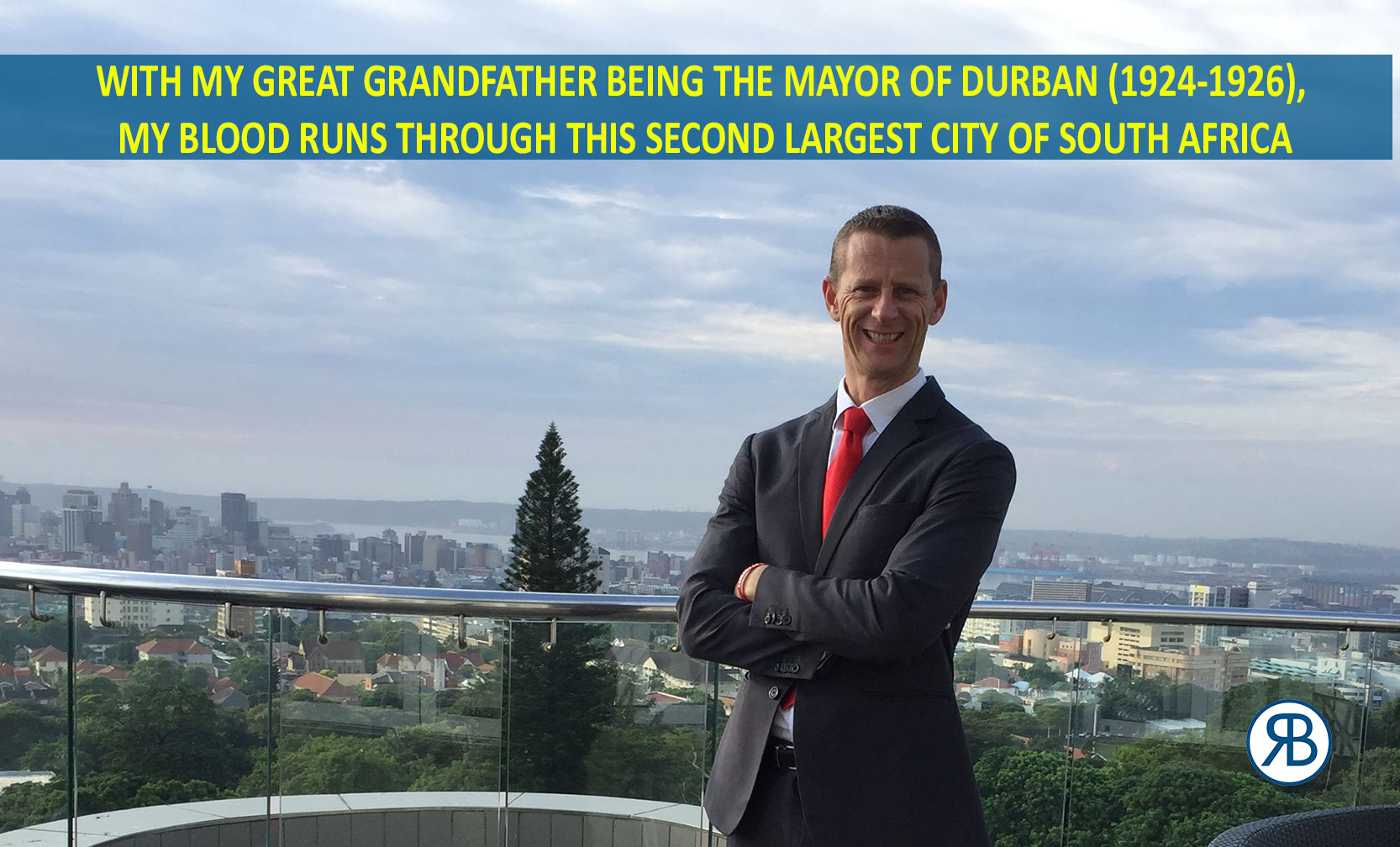 Robin Booth and the Mayor of Durban City